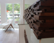 Detail of Wood & Glass Feature Wall