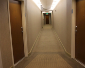 Wallcovering at Residential Corridor- BEFORE