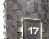 Detail of Feature Wall at Residential Elevator Lobby- AFTER
